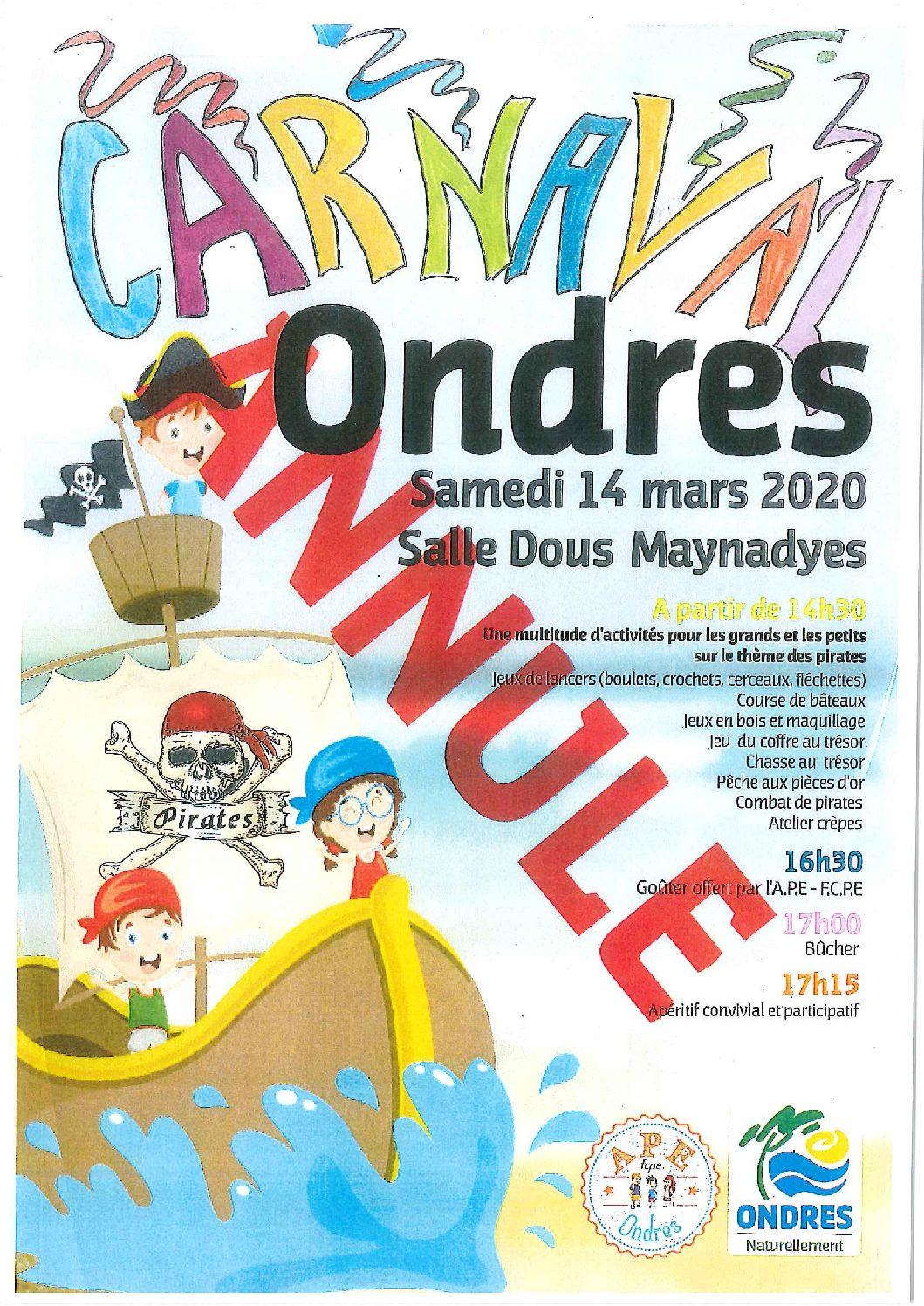 Carnaval annulé