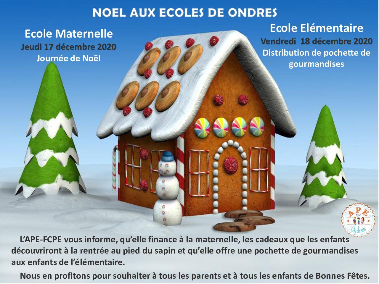 L'association des parents d'élèves participe aux animations de Noël dans les écoles